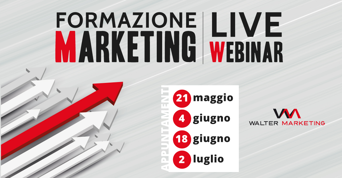 Formazione Marketing Live Webinar